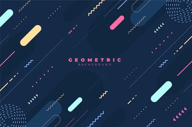 Płaskie tło geometryczne