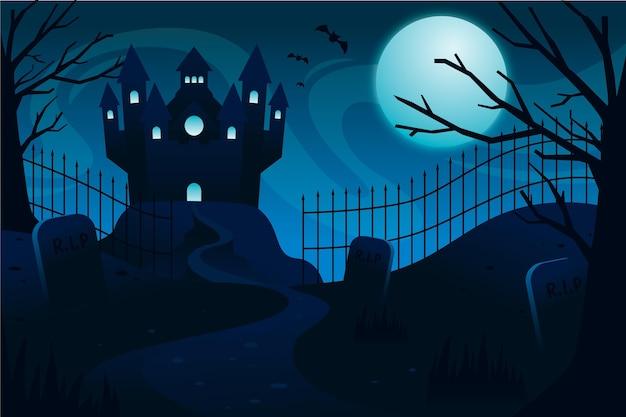 Płaskie tło halloween