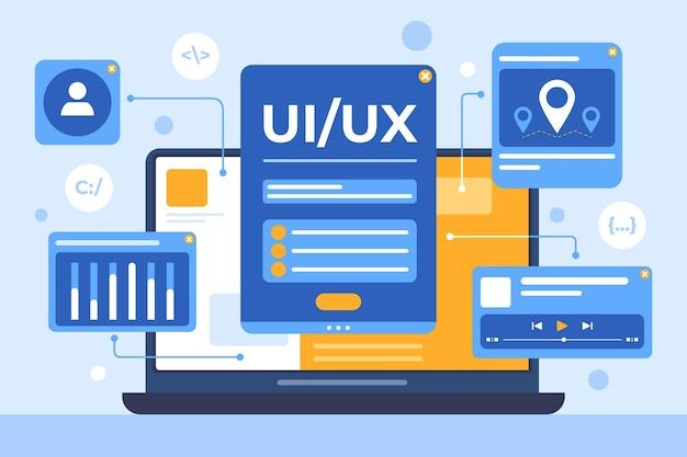 Płaskie tło interfejsu użytkownika/ux