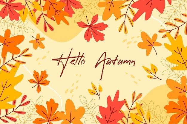 Płaskie tło jesień