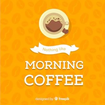 Płaskie tło kawy