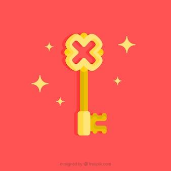 Płaskie tło klucza