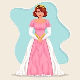 Płaskie tło księżniczka