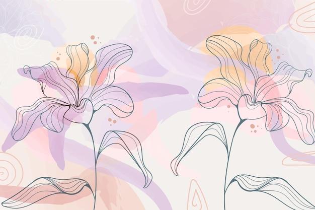 Płaskie tło kwiatowy