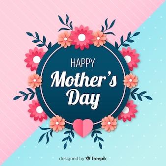 Płaskie tło matki dzień