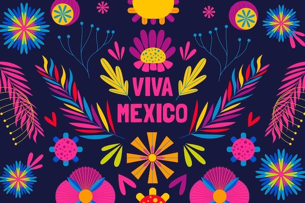 Płaskie tło meksykańskie cinco de mayo