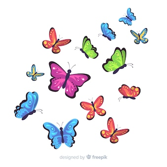 Płaskie tło motyl