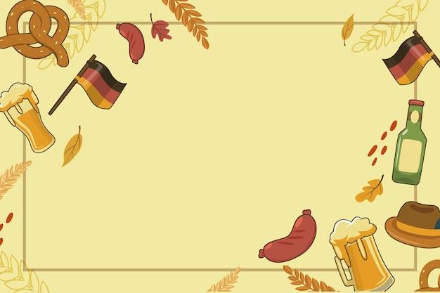 Płaskie tło oktoberfest