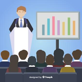 Płaskie tło prezentacji marketingowych