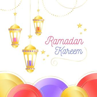 Płaskie tło ramadanu