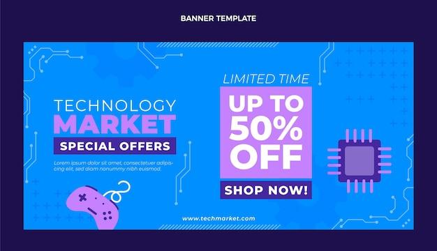 Płaskie tło sprzedaży technologii