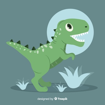 Płaskie tło t-rex