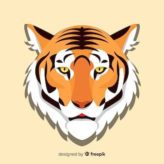 Płaskie tło tygrysa