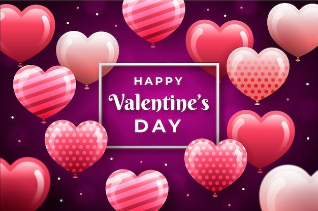 Płaskie tło valentine's day