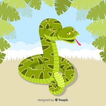 Płaskie tło węża