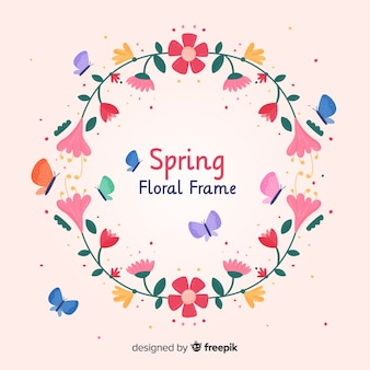 Płaskie tło wiosna ramy