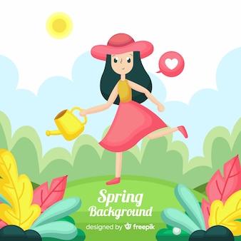 Płaskie tło wiosna