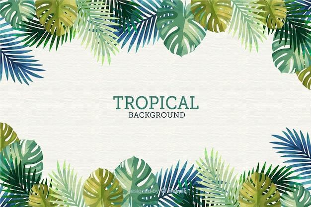 Płaskie tropikalne tło