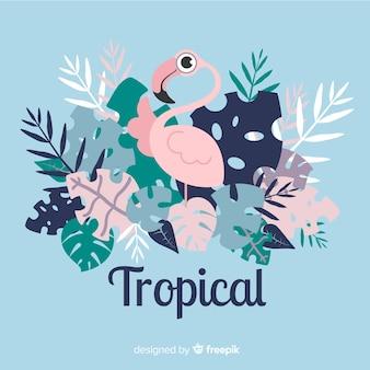 Płaskie tropikalny tło