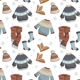 Płaskie ubrania zimowe i niezbędne artykuły