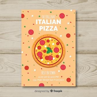 Płaskie ulotki włoskiej restauracji