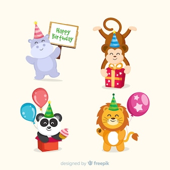 Płaskie urodziny zwierząt