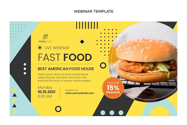Płaskie webinarium fast food