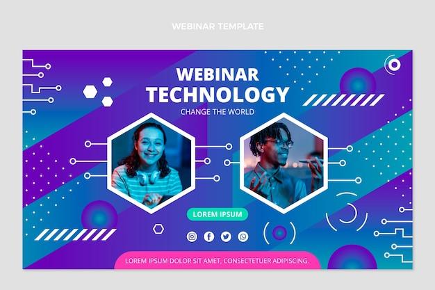 Płaskie webinarium o minimalnej technologii
