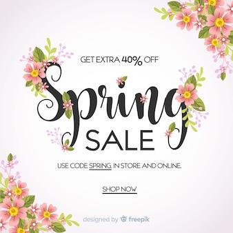 Płaskie wiosnę sprzedaż tło