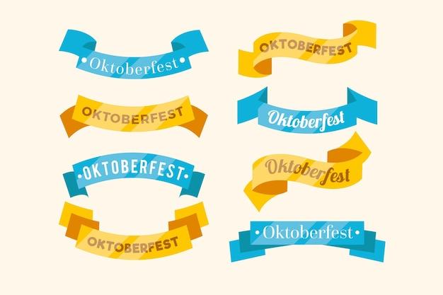Płaskie wstążki festiwalu oktoberfest