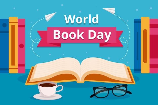 Płaskie wydarzenie światowego dnia książki