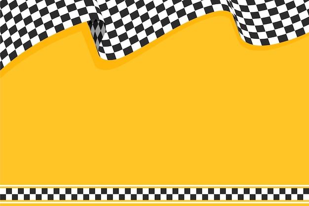 Płaskie wyścigi tło flaga z szachownicą