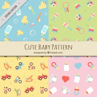 Płaskie wzory z elementami dziecka