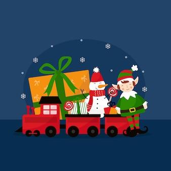 Płaskie zabawki świąteczne ilustracji
