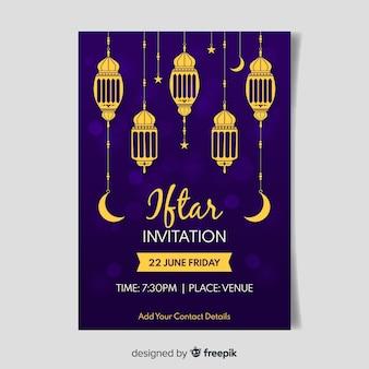 Płaskie zaproszenie iftar