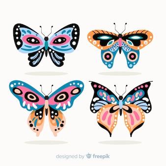 Płaskie zdobione opakowanie motyla