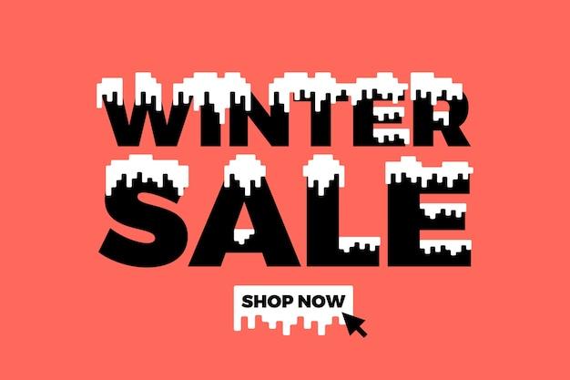Płaskie zimowe sprzedaż tło