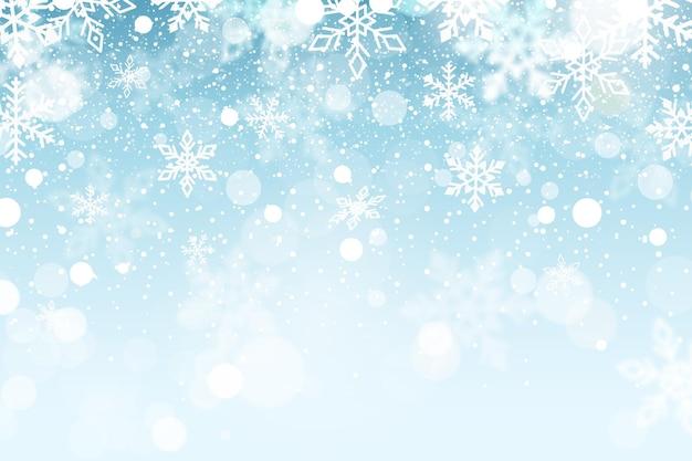 Płaskie zimowe tło