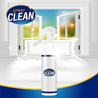 Plastikowa butelka z rozpylaczem płynny środek czyszczący