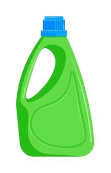 Plastikowa butelka z uchwytem do środka czyszczącego na białym tle