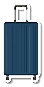 Plastikowa walizka podróżna z naklejką na kółkach