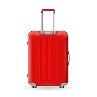 Plastikowa walizka podróżna z poliwęglanu, bagaż.