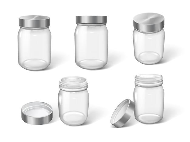 Plastikowe butelki na krem, kosmetyki do pielęgnacji twarzy lub produkty spożywcze