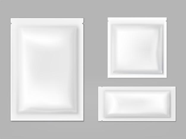Plastikowe, foliowe saszetki z wektorem łez