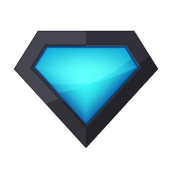 Plastikowe logo superbohatera. błyszczące, błyszczące logo superbohatera.