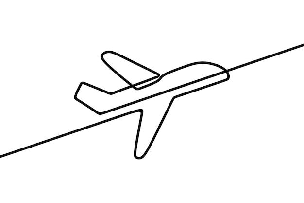 Płaszczyzna jednoliniowa ciągła grafika liniowa