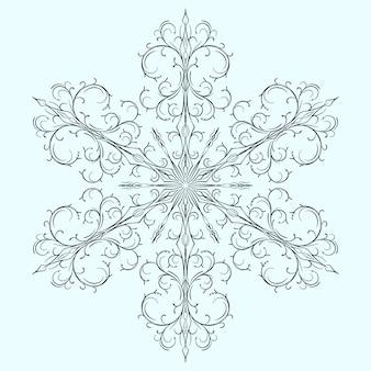 Płatek śniegu na boże narodzenie
