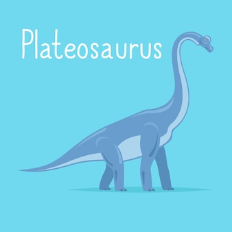 Plateosaurus karta dinozaura