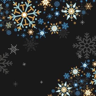 Płatka śniegu wakacyjny projekta tła wektor
