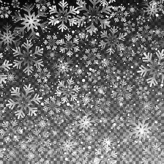 Płatki śniegu bezszwowe tło
